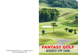 Sample of our scratch off golf card designed for chambers of commerce.