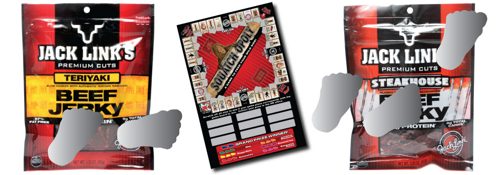 Jack Links used Scratch Off Works for their custom scratch off games used to promote their beef jerky products.
