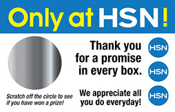 scratch off incentives for HSN