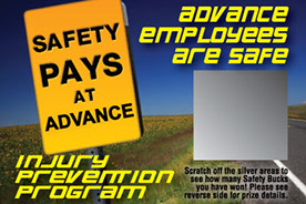 Our scratch off safety cards are used as an injury prevention program.  They improve morale immediately.