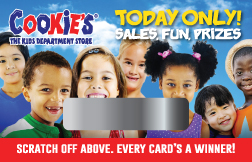 Back to school scratch offs make a great promotion for retail stores