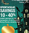 Scratch off cards used as a Halloween promotion by Goodwill Industries