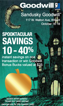 Halloween scratch off cards for Goodwill