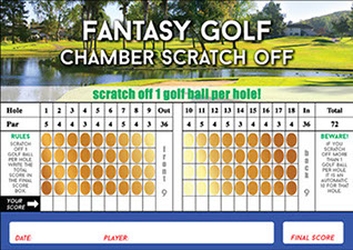 Golf fundraisers that use scratch off sell as well or better than the traditional raffle card.