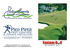 Our Fantasy Golf cards are the #1 golf tournament promotion.