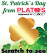 scratch off cards used as a St. Patricks Day promotion to increase retail store sales
